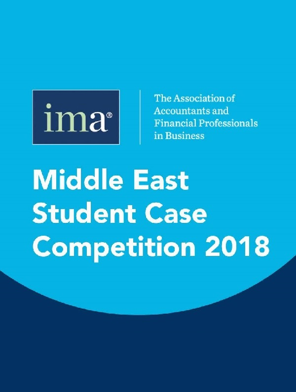 IMA Middle East Student case Competition 2018