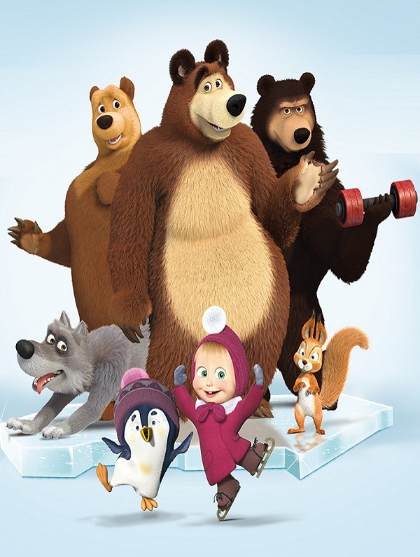 Masha and the Bear on ice